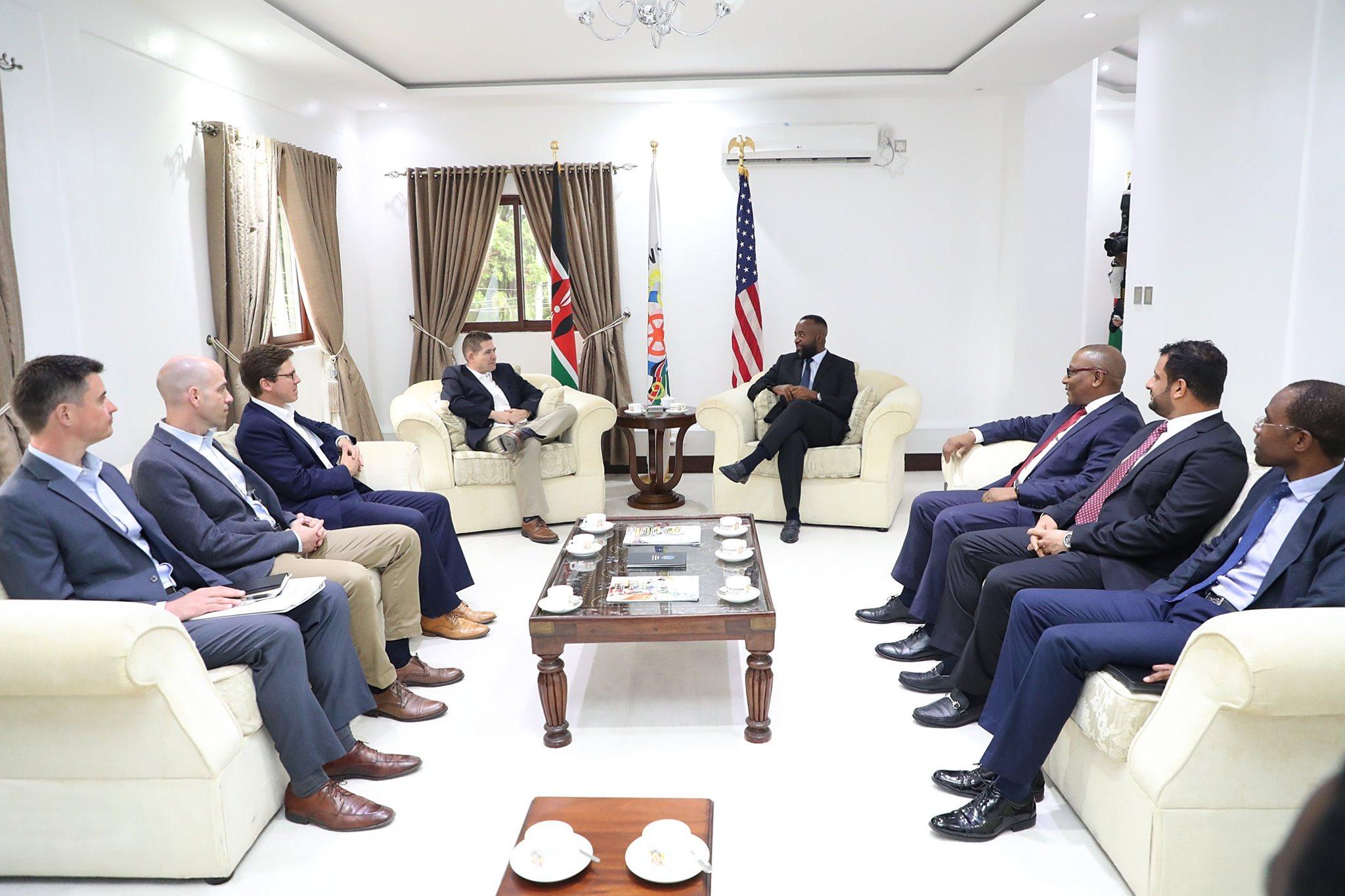 I hosted the US ambassador to Kenya H.E Ambassador Kyle McCarter who paid me a courtesy call.